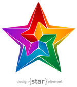 Abstract design element colorful star — Stock Photo