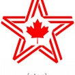 Monochrome star with flag Canada color and symbol design element — Stock Photo