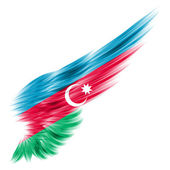 Azerbaijan flag on Abstract wing with white background — Stock Photo