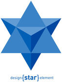 Star of David abstract raster design element — Stock Photo