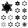 Stars of David original set — Stock Photo
