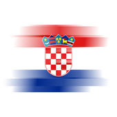 Abstract Flag of Croatia on white background — Stock Photo
