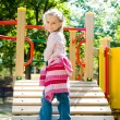 Girl on the playground — Stock Photo