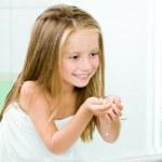 Girl in bathroom — Stock Photo #14528017