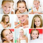Girl in bathroom — Stock Photo