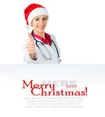 Noel baba doktor — Stok fotoğraf