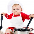 Baby cooking — Stock Photo