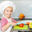 Little girl preparing healthy food — Stock Photo #18551837