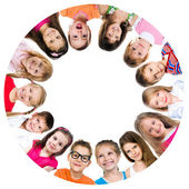 Group of smiling kids — Stock Photo