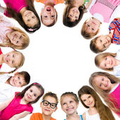 ομάδα παιδιών χαμογελαστά — Φωτογραφία Αρχείου