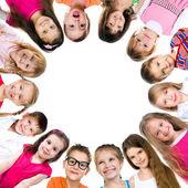 集团的笑容灿烂的孩子 — 图库照片