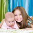 Two little sisters — Stock Photo #18962035