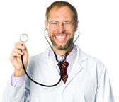 Medical doctor with the stethoscop — Stock Photo