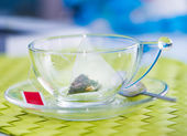 Cup of tea with tea bag — Stock Photo