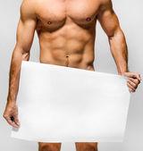 Uomo muscoloso nudo — Foto Stock
