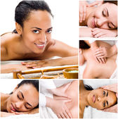 Young women relaxing in the spa salon — Stock Photo