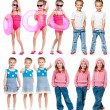 Set of a little girl photos - Stock Photo