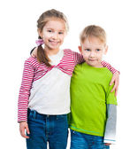 Little boy and his sister — Stock Photo