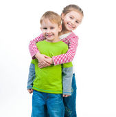 Little boy and his cute sister — Stock Photo