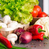 Food ingredients on the kitchen — Stock Photo