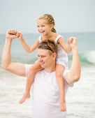 Happy father and his little daughter — Stock Photo