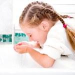 Girl washing in bath — Stock Photo #24626699
