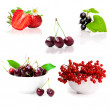Collage of pictures of berries — Stock Photo