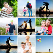 Family summer vacation — Stock Photo