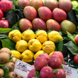 Stock Photo: Variety of fruits at the market