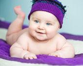 Close-up muchacha recién nacida — Foto de Stock