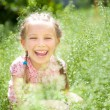 Smiling little girl — Stockfoto
