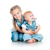 Två söta systrar — Stockfoto