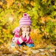 Autumn portrait of a little girl — Stock Photo #29777261