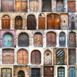 Photo collage of old doors — 图库照片