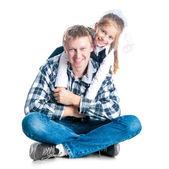 Pai e filha dele — Foto Stock