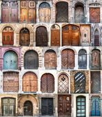 Photo collage of old doors — Stock Photo