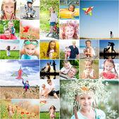 Familien-sommer-urlaub — Stockfoto