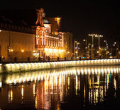 University of Wroclaw at night — Stock Photo
