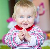 Blue-eyed toddler — Stock Photo