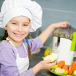 Girl making fresh juice — Stock Photo #33666517