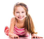 Little girl goes in for sports — Stock Photo