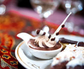 Large plate of Arabic sweet — Stock Photo
