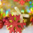 Red snowflake — Stock Photo