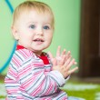 Blue-eyed toddler — Foto Stock