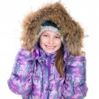 Little girl in warm jacket — Stock Photo