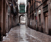 Old streets of Barrio Gotico — Foto de Stock
