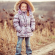 Autumn portrait of a little girl — Stock Photo #36417301