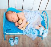 Cute newborn baby sleeps — Stock Photo