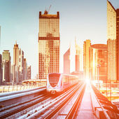 Dubai Metro, UAE. — Stock Photo