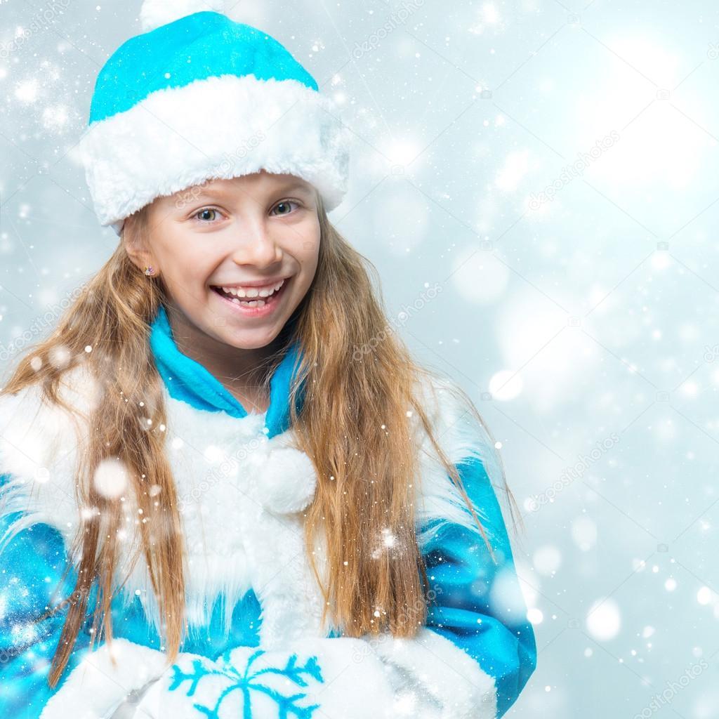 Фото красивых девушек в костюме снегурочки 20 фотография